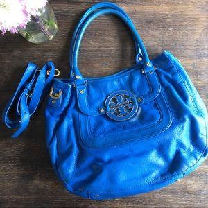 "Tory Burch ""Amanda"" satchel cobalt blue"